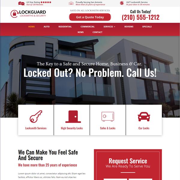Website for Locksmith