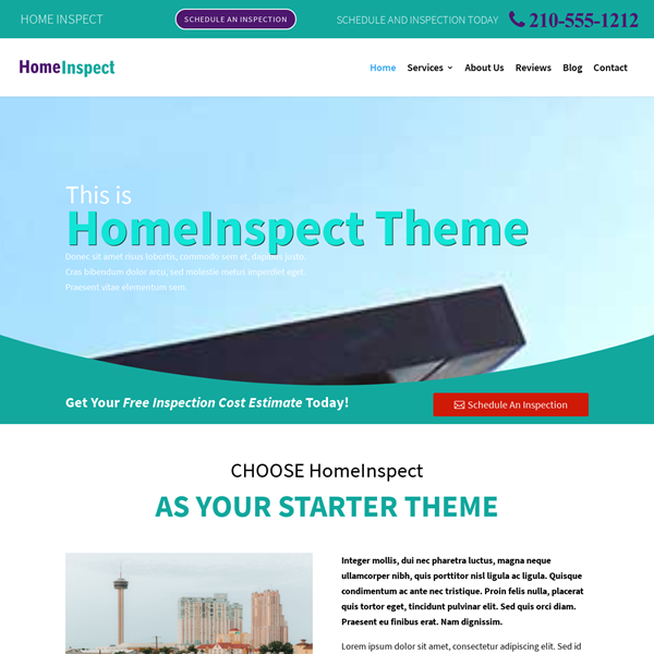 Website for Home Inspection Company