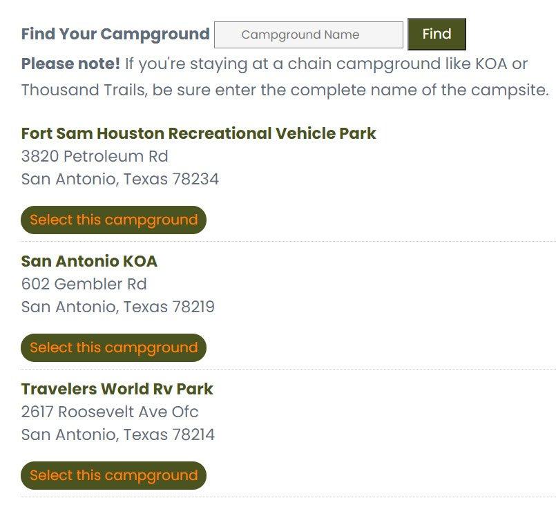 Campground Locator