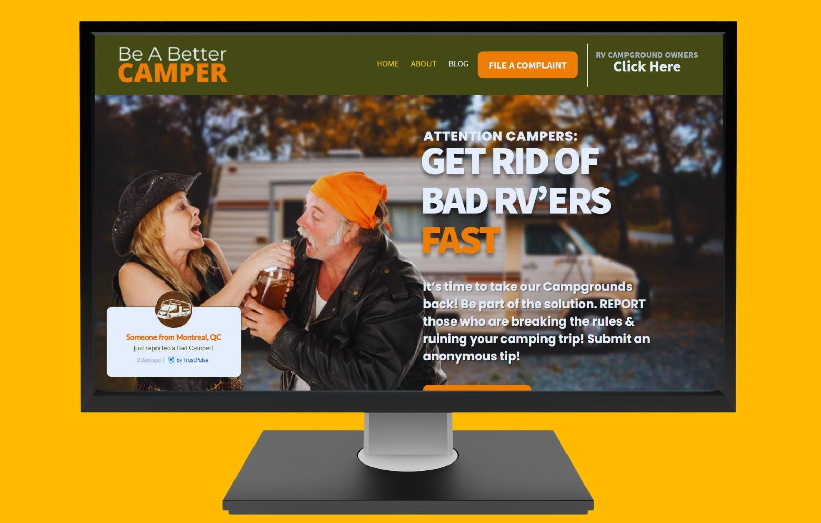 Screenshot of Be A Better Camper Dot Com